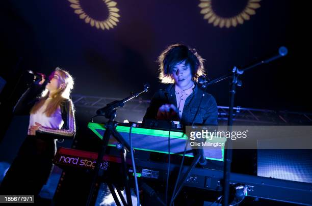 Hannah Reid and Dot Major of London Grammar perform at O2 Academy on October 23 2013 in Birmingham England