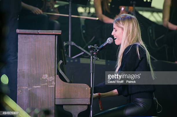 Hannah Reid from London Grammar performs at We Love Green Festival at Parc de Bagatelle on May 31 2014 in Paris France