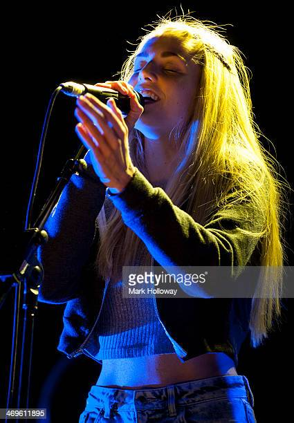 Hannah Reid of London Grammar performing on stage at O2 Academy on February 15 2014 in Bournemouth United Kingdom