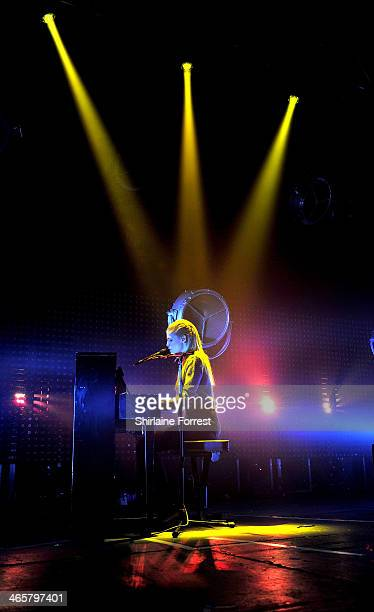 Hannah Reid of London Grammar performs a sold out show at Manchester Academy on January 29 2014 in Manchester England