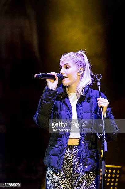 Hannah Reid of London Grammar performs on Day 3 of Bestival at Robin Hill Country Park on September 6 2014 in Newport Isle of Wight