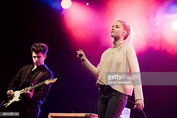 Hannah Reid of London Grammar performs on stage at Electric Picnic at Stradbally Estate on August 30 2014 in Stradbally Ireland