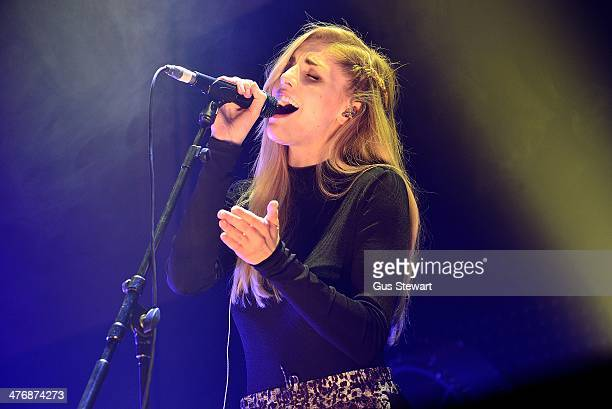 Hannah Reid of London Grammar performs on stage at the Troxy on March 5 2014 in London United Kingdom