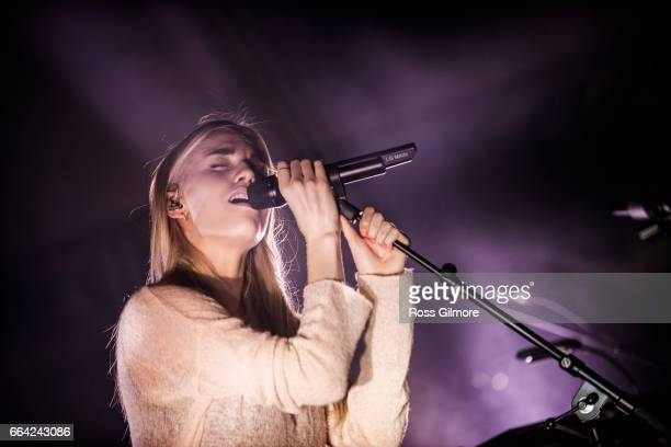 Hannah Reid of London Grammar performs onstage at Oran Mor on April 3 2017 in Glasgow United Kingdom