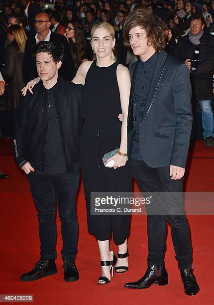 Hannah Reid of the British electronic pop trio London Grammar arrives at the 16th NRJ Music Awards at Palais des Festivals on December 13 2014 in...