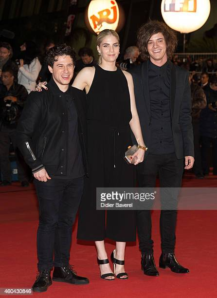 Hannah Reid of the British electronic pop trio London Grammar attends the 16th NRJ Music Awards at Palais des Festivals on December 13 2014 in Cannes...