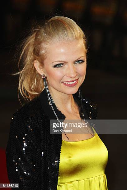 Hannah Sandling arrives at the European Premiere of 'Defiance' at the Odeon West End cinema Leicester Square on January 6 2009 in London England