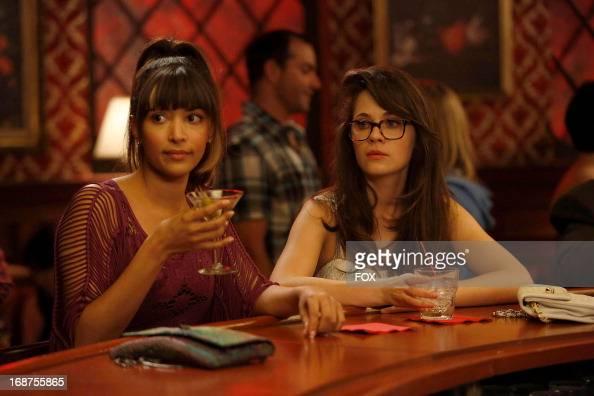 Hannah Simone and Zooey Deschanel starsin the 'Virgins' season finale episode of NEW GIRL airing Tuesday April 30 2013 on FOX