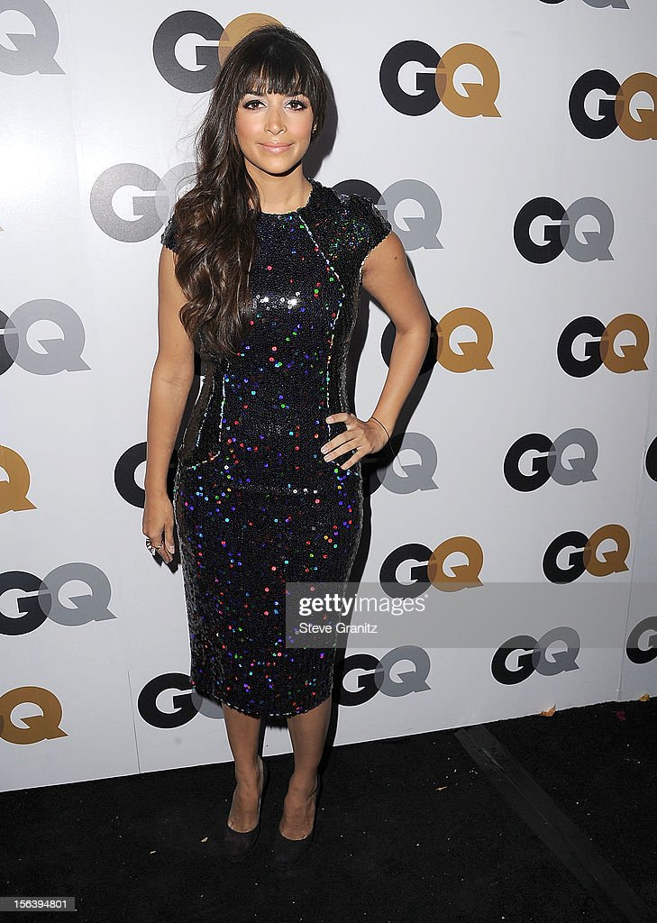 Hannah Simone arrives at the GQ Men Of The Year Party at Chateau Marmont on November 13, 2012 in Los Angeles, California.