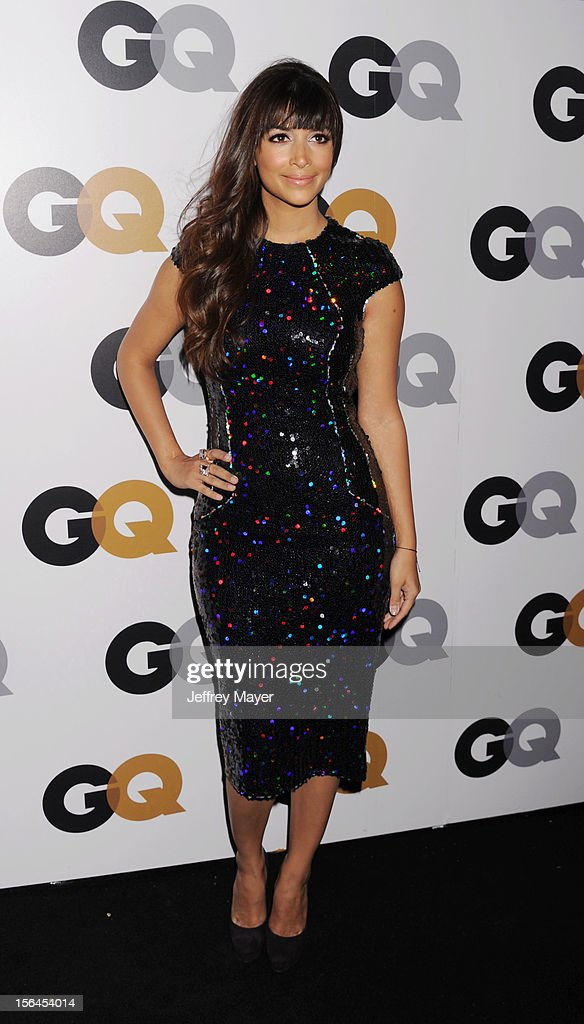Hannah Simone arrives at the GQ Men Of The Year Party at Chateau Marmont Hotel on November 13, 2012 in Los Angeles, California.