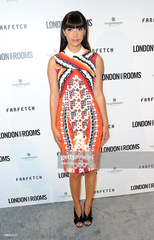 Hannah Simone attends the British Fashion Council's International Showcasing Initiative 'London Show Rooms LA' at Thompson Hotel on April 9, 2013 in Beverly Hills, California.
