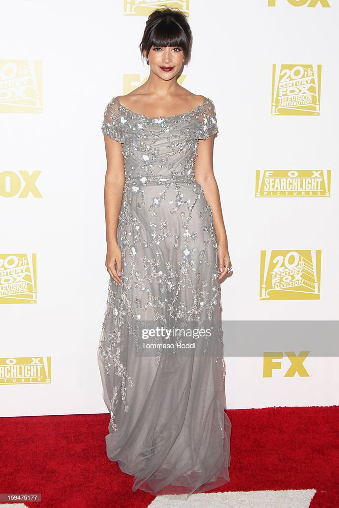 Hannah Simone attends the FOX Golden Globe after party held at the FOX Pavilion at the Golden Globes on January 13, 2013 in Beverly Hills, California.