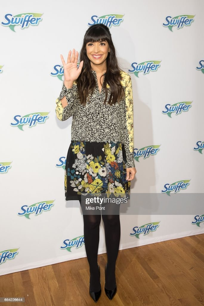 Hannah Simone celebrates Swiffer's 18th birthday at The Midtown Loft on March 16, 2017 in New York City.