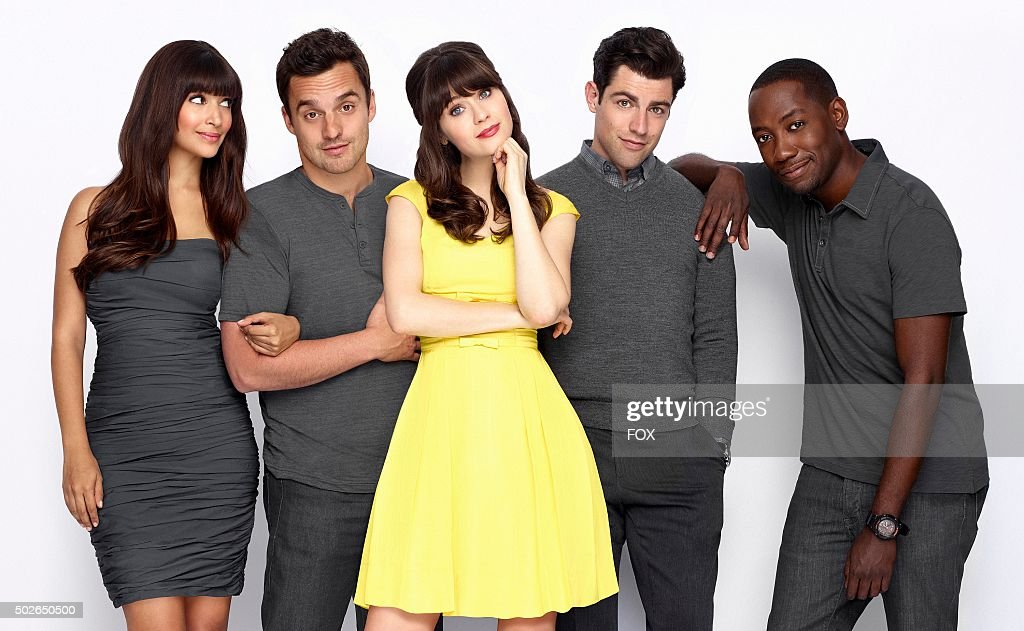 Hannah Simone Jake Johnson Zooey Deschanel Max Greenfield and Lamorne Morris Season three of NEW GIRL premieres on FOX
