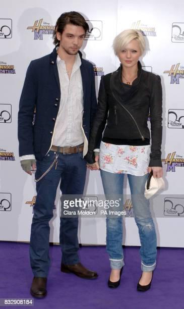 Hannah Spearritt and boyfriend Andrew Lee Potts arrive for Disney sensation Hannah Montana's debut UK gig at Koko in Camden north London