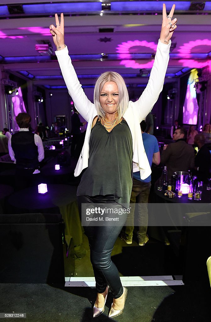 Hannah Spearritt attends The London Cabaret Club launch party at The Bloomsbury Ballroom on May 4 2016 in London England