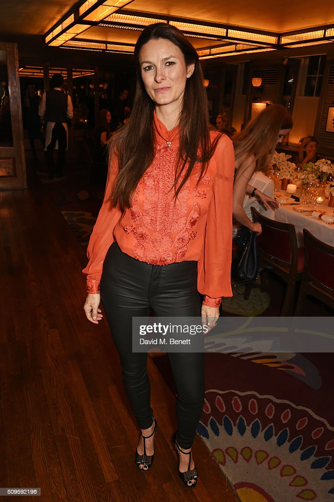Hannah Teare attends a private dinner celebrating the APM Monaco flagship store opening at 34 Grosvenor Square on February 11, 2016 in London, England.