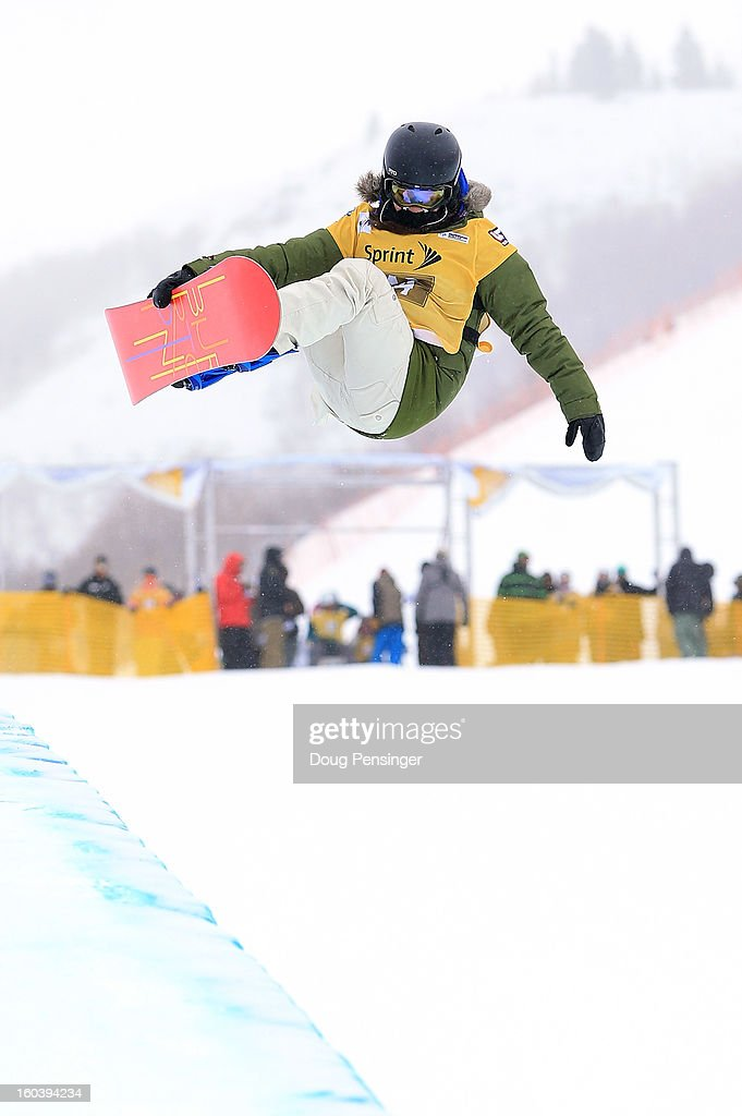 Hannah Trigger of Australia competes during qualifications for the FIS Snowboard Halfpipe World Cup at the Sprint U.S. Grand Prix at Park City Mountain on January 30, 2013 in Park City, Utah.