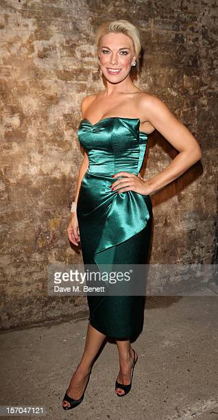 Hannah Waddingham attends the Kiss Me Kate after party at Old Vic Tunnels on November 27 2012 in London England