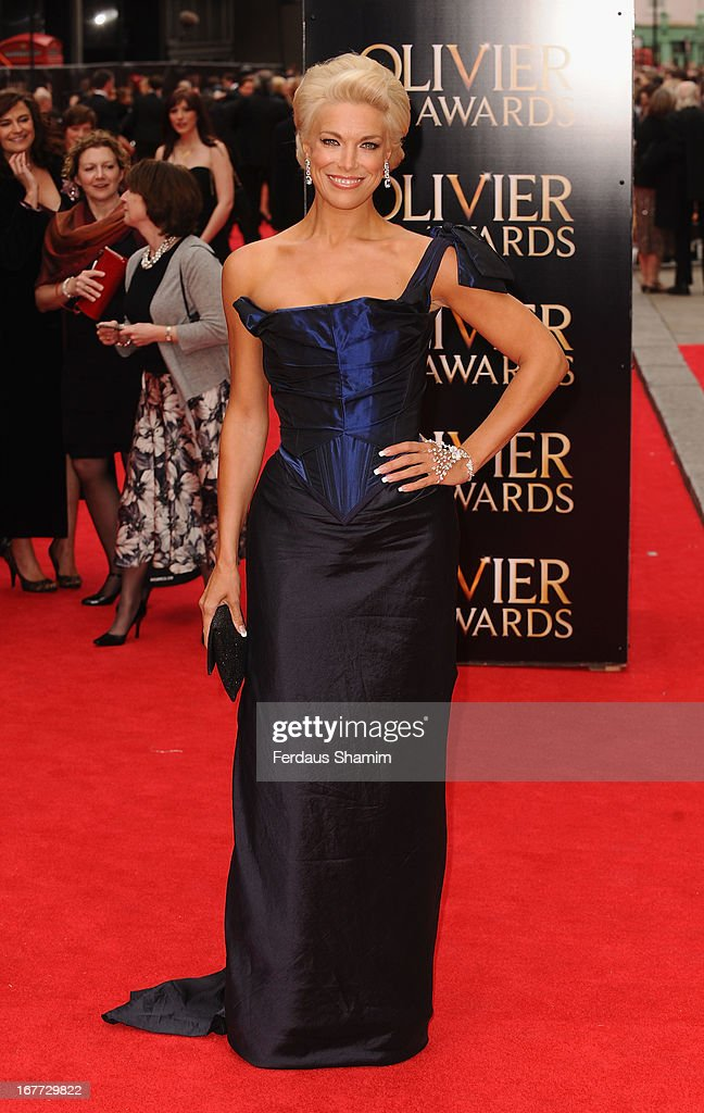 Hannah Waddingham attends The Laurence Olivier Awards at The Royal Opera House on April 28, 2013 sLondon, England.