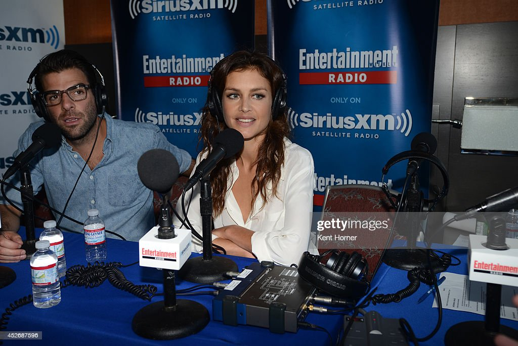 Hannah Ware is interviewed on SiriusXM's Entertainment Weekly Radio channel from Comic-Con 2014 at The Hard Rock Hotel on July 25, 2014 in San Diego, California.
