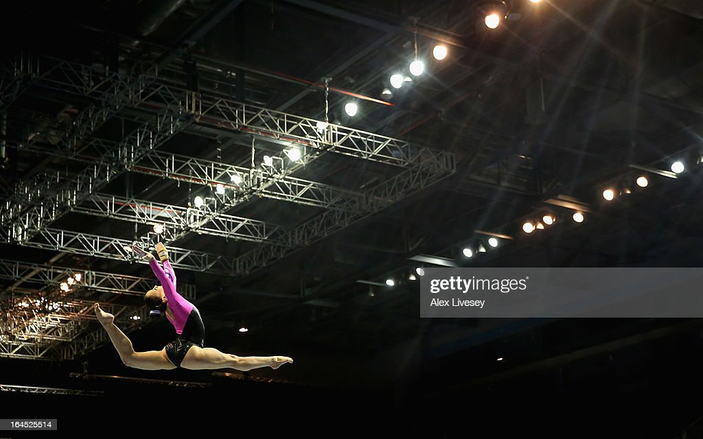 Hannah Whelan of City of Liverpool competes in the Beam in the Women's Senior Apparatus Finals during the Men's and Women's British Gymnastics Championships at the Echo Arena on March 24, 2013 in Liverpool, England.