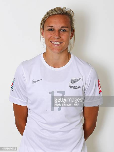 Hannah Wilkinson of New Zealand during the FIFA Women's World Cup 2015 portrait session at the Delta Edmonton South on June 3 2015 in Edmonton Canada