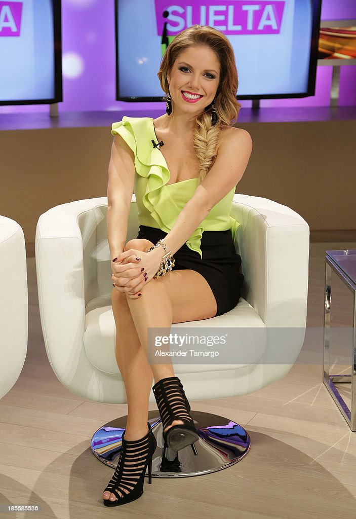 Hannaley is seen on the set of the new Telemundo show 'Suelta La Sopa' on October 22, 2013 in Miami, Florida.