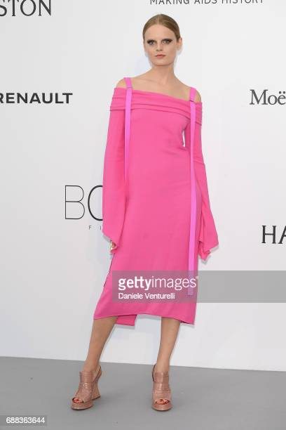 Hanne Gaby Odiele arrives at the amfAR Gala Cannes 2017 at Hotel du CapEdenRoc on May 25 2017 in Cap d'Antibes France