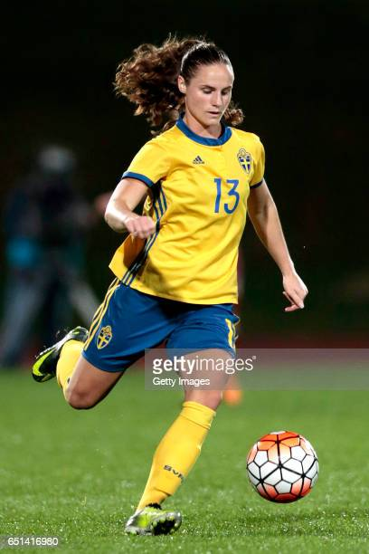 Hanne Grahns of Sweden during the Algarve Cup Tournament Match between Sweden W and Russia W on March 8 2017 in Albufeira Portugal