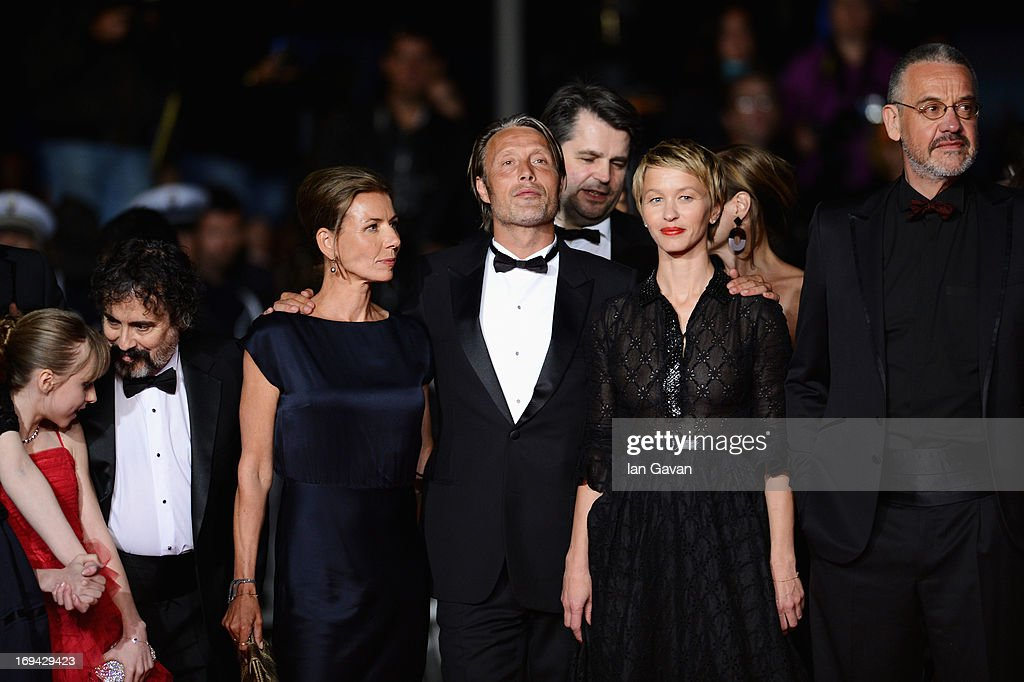 Hanne Jacobsen, Mads Mikkelsen, Delphine Chuillot and Arnaud des Pallieres attend the 'Michael Kohlhaas' premiere during The 66th Annual Cannes Film Festival at the Palais des Festival on May 24, 2013 in Cannes, France.