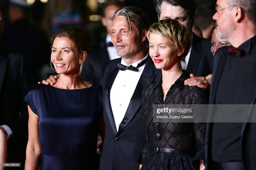 Hanne Jacobsen,Mads Mikkelsen, Delphine Chuillot and Arnaud des Pallieres attend the 'Michael Kohlhaas' premiere during The 66th Annual Cannes Film Festival at the Palais des Festival on May 24, 2013 in Cannes, France.