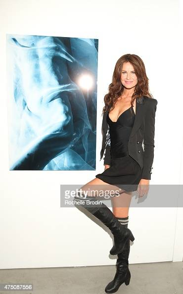 Hanne Kristiansen attends the 'Blue Nudes' exhibition at De Re Gallery on May 28 2015 in West Hollywood California