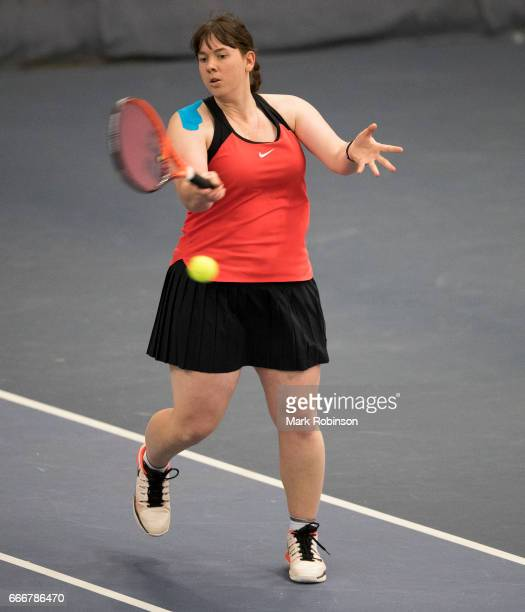 Hanne Lavreysen of Belgium during her match against Agnieszka Kraft of Poland during the INAS Learning Disability International on April 10 2017 in...