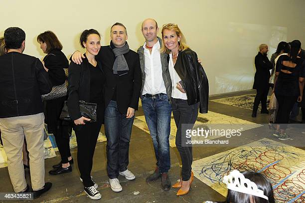 Hanneke Skerath Douglas Fogle and Guests at the Oscar Murillo Distribution Center VIP Opening Reception at The Mistake Room on January 17 2014 in Los...