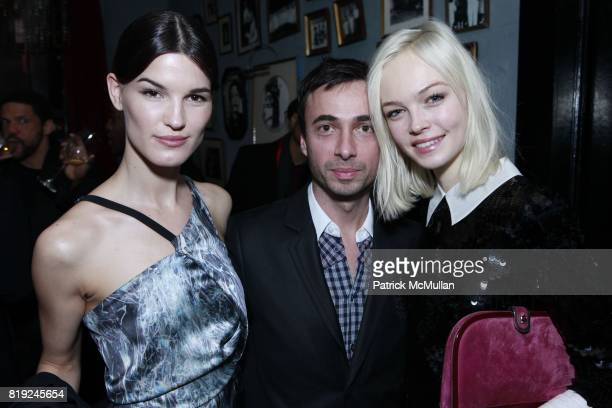 Hanneli Mustaparta and Siri Toller¯d attend SONIA RYKIEL POUR HM Exclusive Preview at Bobo on February 4 2010 in New York City