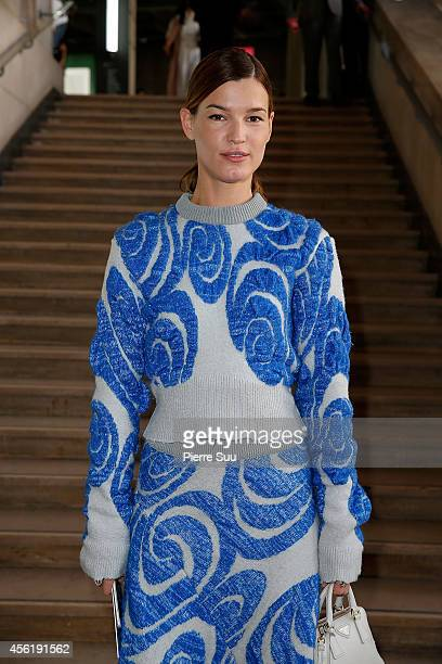 Hanneli Mustaparta attends the Acne Studios show as part of the Paris Fashion Week Womenswear Spring/Summer 2015 on September 27 2014 in Paris France
