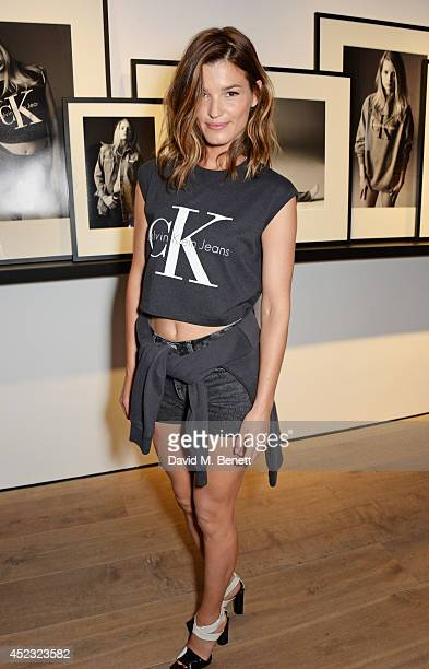 Hanneli Mustaparta attends the Calvin Klein Jeans x Mytheresacom party on July 17 2014 in London England