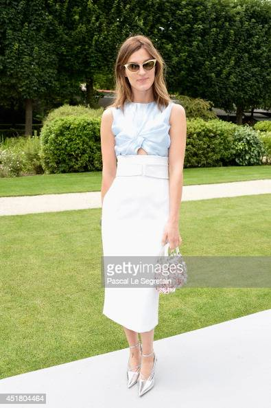 Hanneli Mustaparta attends the Christian Dior show as part of Paris Fashion Week Haute Couture Fall/Winter 20142015 on July 7 2014 in Paris France