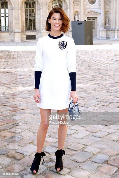 Hanneli Mustaparta attends the Christian Dior show as part of the Paris Fashion Week Womenswear Fall/Winter 2015/2016 on March 6 2015 in Paris France