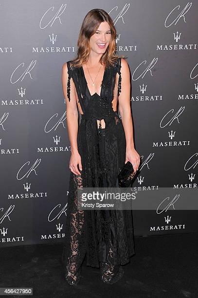 Hanneli Mustaparta attends the CR Fashion Book Issue No5 Launch Party hosted by Carine Roitfeld and Stephen Gan at The Peninsula Paris on September...