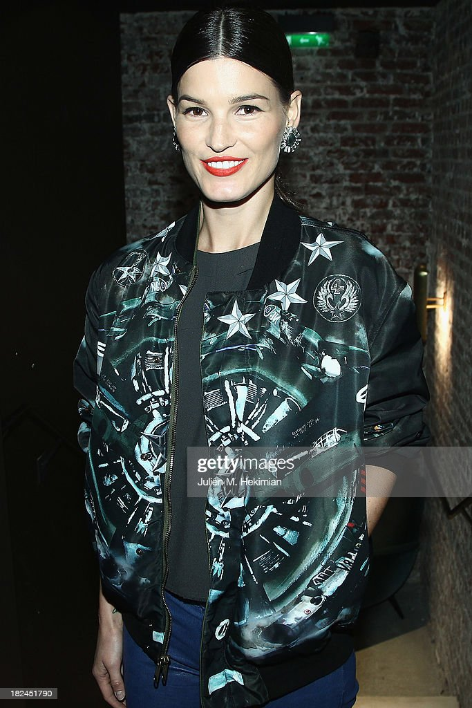 Hanneli Mustaparta attends the Glamour dinner for Patrick Demarchelier as part of the Paris Fashion Week Womenswear Spring/Summer 2014 at Monsieur Bleu restaurant on September 29, 2013 in Paris, France.