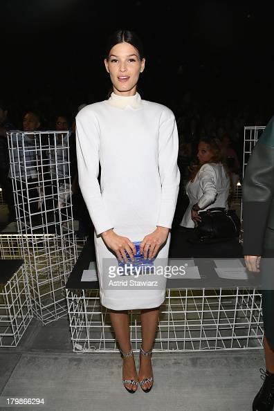 Hanneli Mustaparta attends the Lacoste fashion show during MercedesBenz Fashion Week Spring 2014 at The Theatre at Lincoln Center on September 7 2013...