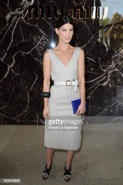 Hanneli Mustaparta attends the Miu Miu show as part of the Paris Fashion Week Womenswear Spring/Summer 2014 at Palais d'Iena on October 2 2013 in...