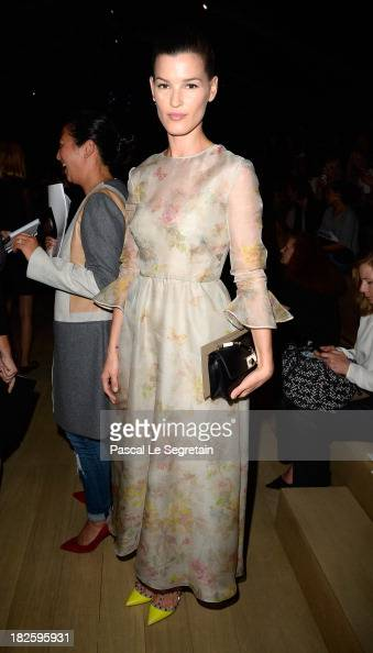 Hanneli Mustaparta attends the Valentino show as part of the Paris Fashion Week Womenswear Spring/Summer 2014 at Espace Ephemere Tuileries on October...