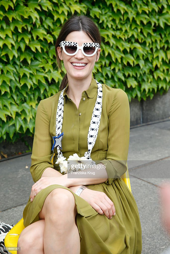 Hanneli Mustaparta poses at the Schumacher After Show Party at Brandenburg Gate on July 4, 2013 in Berlin, Germany.