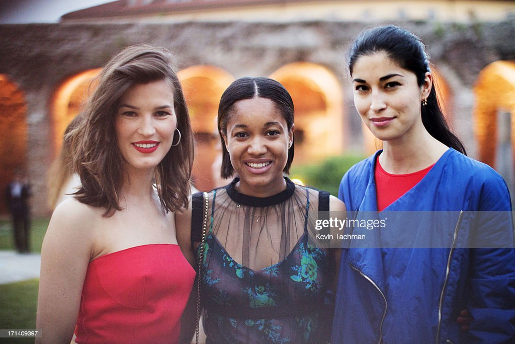 Hanneli Mustaparta,Tamu Mcpherson and Caroline Issa attend the dinner to celebrate Italo Zucchelli's ten years as Calvin Klein Collection's mens creative director on June 23, 2013 in Milan, Italy.