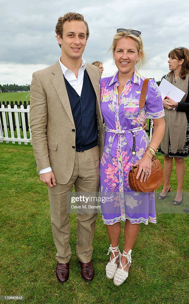 Hanneli Rupert and guest attend the Cartier Queen's Cup Polo Day 2013 at Guards Polo Club on June 16, 2013 in Egham, England.