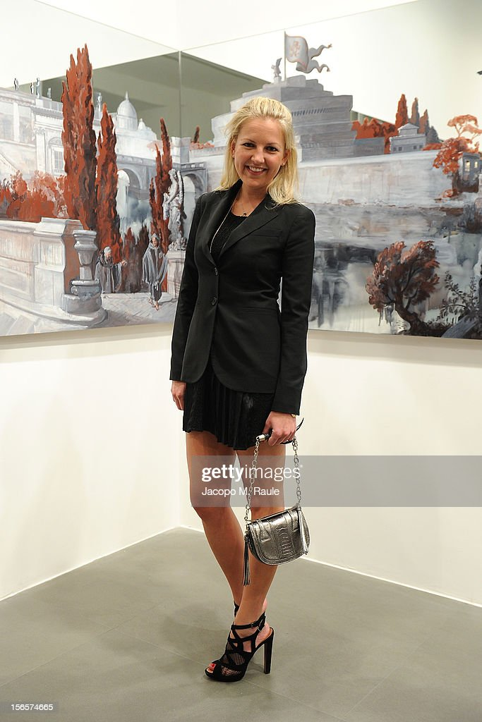 Hanneli Rupert attends the closing drinks at the Gagosian Gallery during the third day of the 2012 International Herald Tribune's Luxury Business Conference held at Rome Cavalieri on November 16, 2012 in Rome, Italy. The 12th annual IHT Luxury conference is the premier meeting point for the luxury industry. 500 delegates from 30 countries have gathered in Rome to hear from the world's most inspirational fashion designers and luxury business leaders.