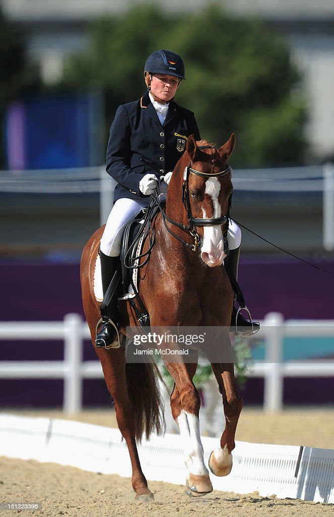 Hannelore Brenner of Germany rides Women of the World to Gold during the Equestrian Dressage Individual Freestyle Test - Grade III on day 6 of the London 2012 Paralympic Games at Greenwich Park on September 4, 2012 in London, England.